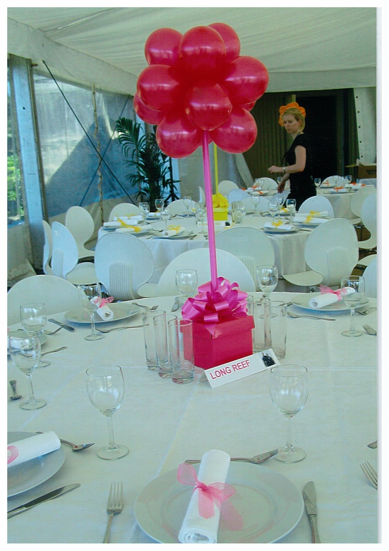 Balloon table centerpieces balloons and party Table decoration ideas for parties