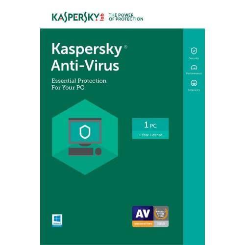 Kaspersky Anti-Virus 2017 - 1-Year / 1-PC - North America