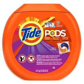 Tide Pods 72 Count Spring Meadow High Efficiency Laundry Detergent