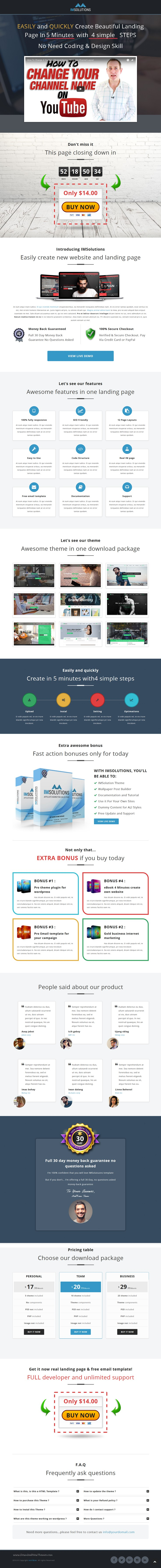 Imsolutions Sales Page For Affiliate Marketing Affiliate Marketing