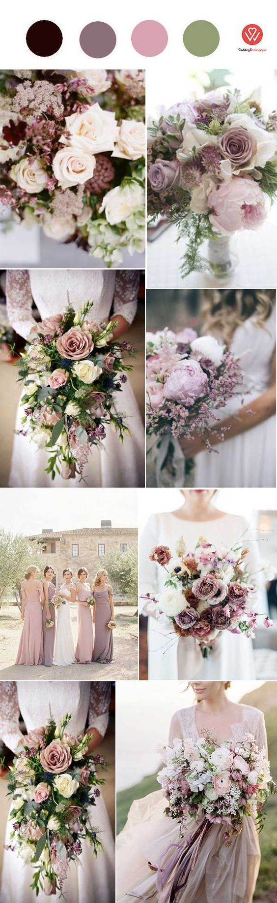 THE HOTTEST15 MAUVE WEDDING COLOR PALETTES FOR 2018 WEDDING NEW TREND  Wedding Invites Paper is part of Mauve wedding colors -