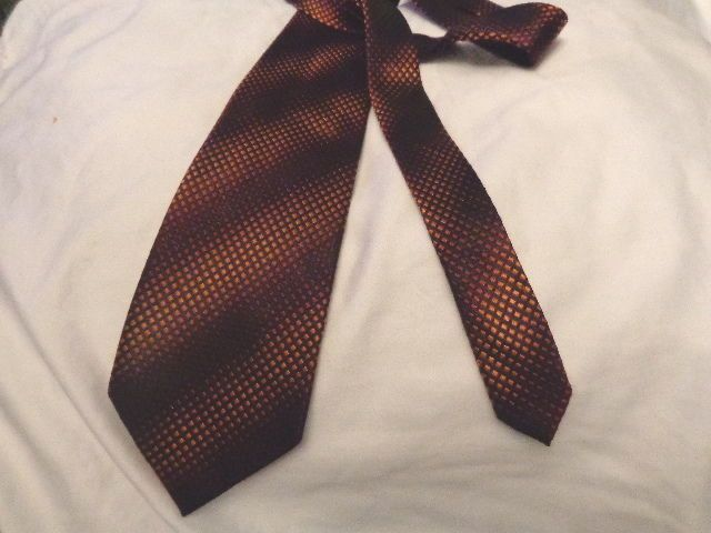 KENNETH COLE NEW YORK MENS NECKTIE, Red, Orange Ombre, 100% Silk, EUC #KennethCole #NeckTie