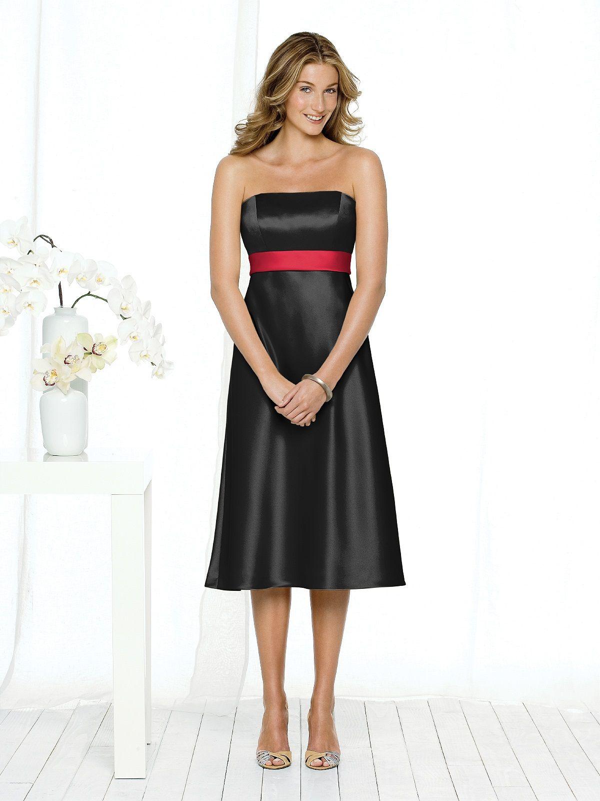 1000  images about Black Bridesmaid Dresses on Pinterest  Satin ...