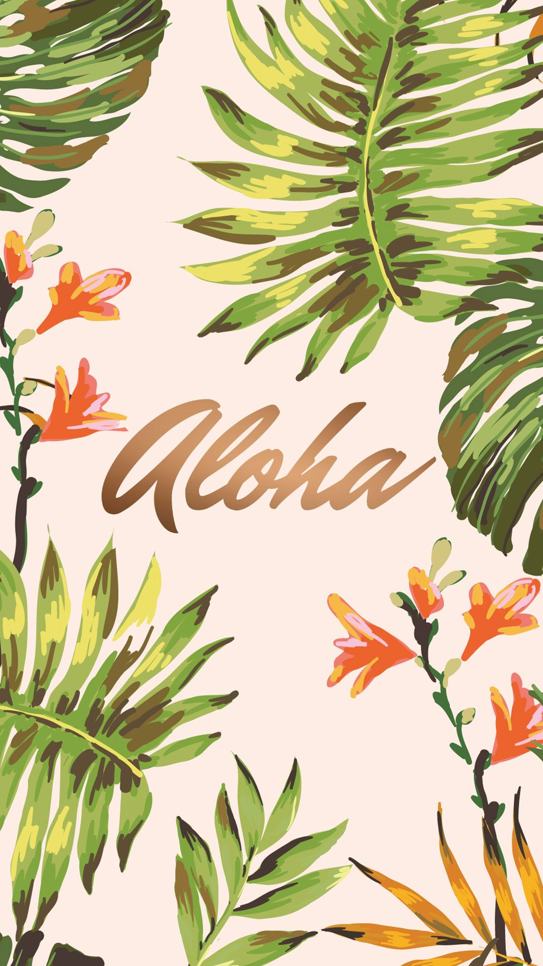 Aloha Wallpaper For Iphone Android Cute Wallpapers For Android Iphone Background Vintage Tropical Wallpaper