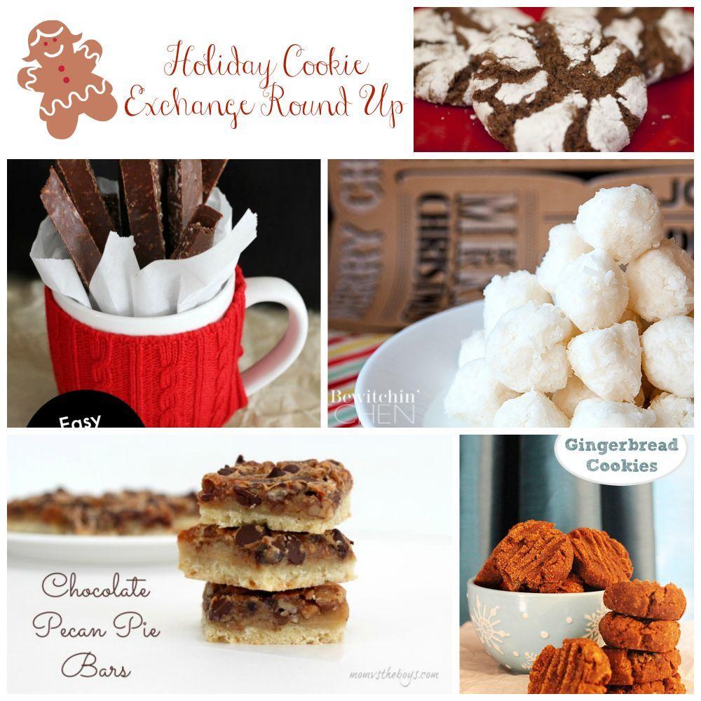 Awesome Holiday Cookie Exchange Recipe Round Up easygingerbreadcookies #pecanpiebars #christmascooking #cookieexchange #chocolatecookies #foodinspiration #box #awesome #christmaskitchen