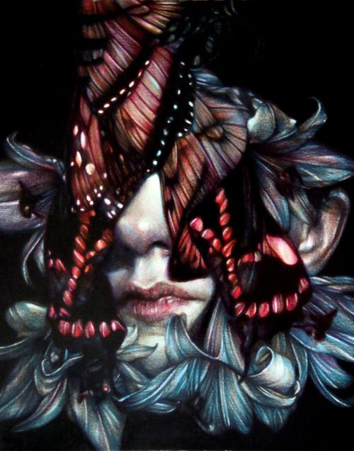 "Headlights"" 2012, colored pencils on paper, cm 28x22 Marco Mazzoni ..."