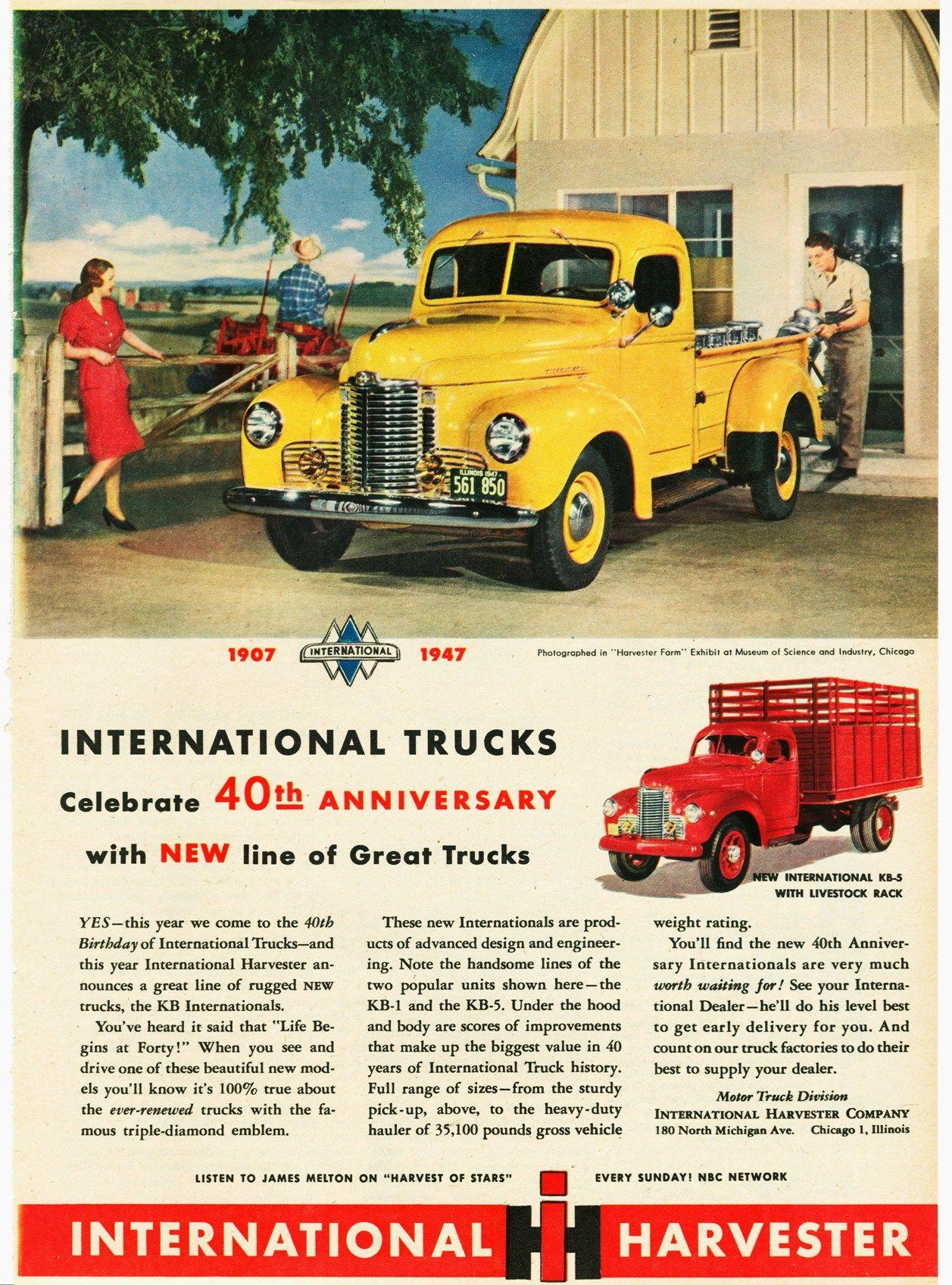1947 International Truck Ad-01 | INTERNATIONAL TRUCK ADS | Pinterest ...