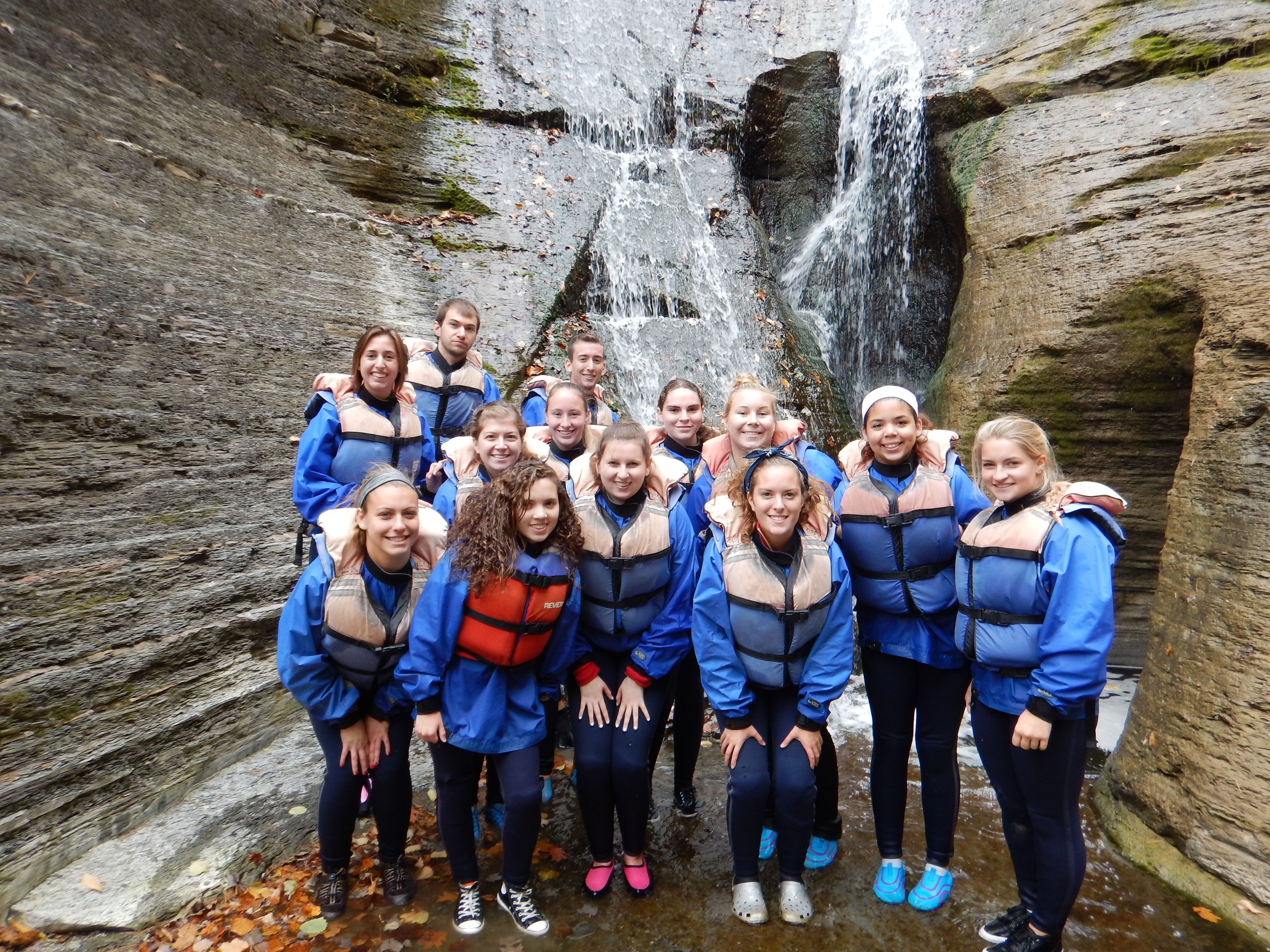 Members of the SUNY Fredonia Geology Club loved seeing the gorge @ LSP up close and personal in Sept. of 2014.  adventure-calls.com