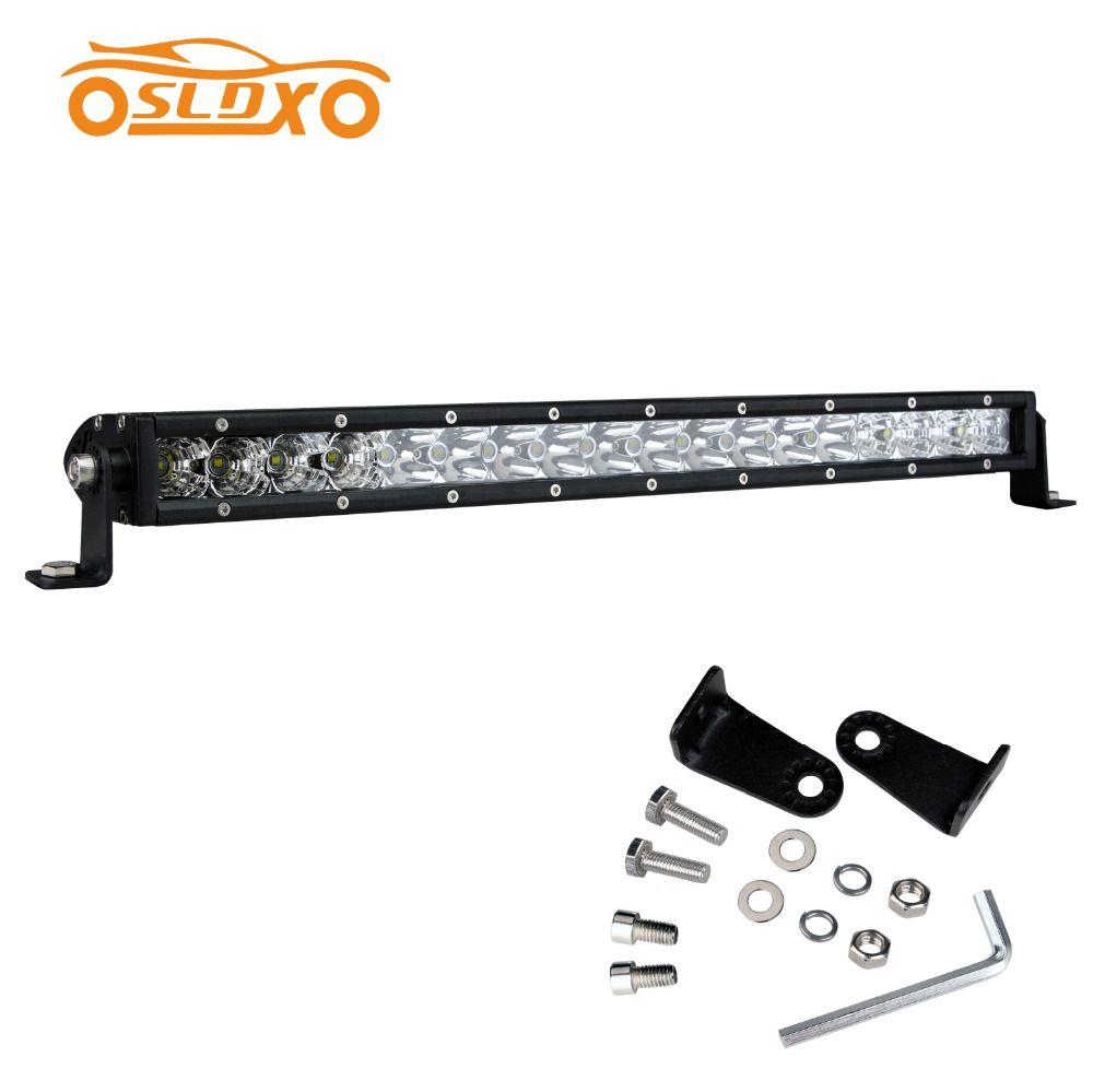 Sldx 19 21 90w Single Row Off Road Led Light Bar Truck Light Bar S F Combo Beam For Jeep Suv Atv Utv 4wd 12v Ip68 Led Light Bar Truck