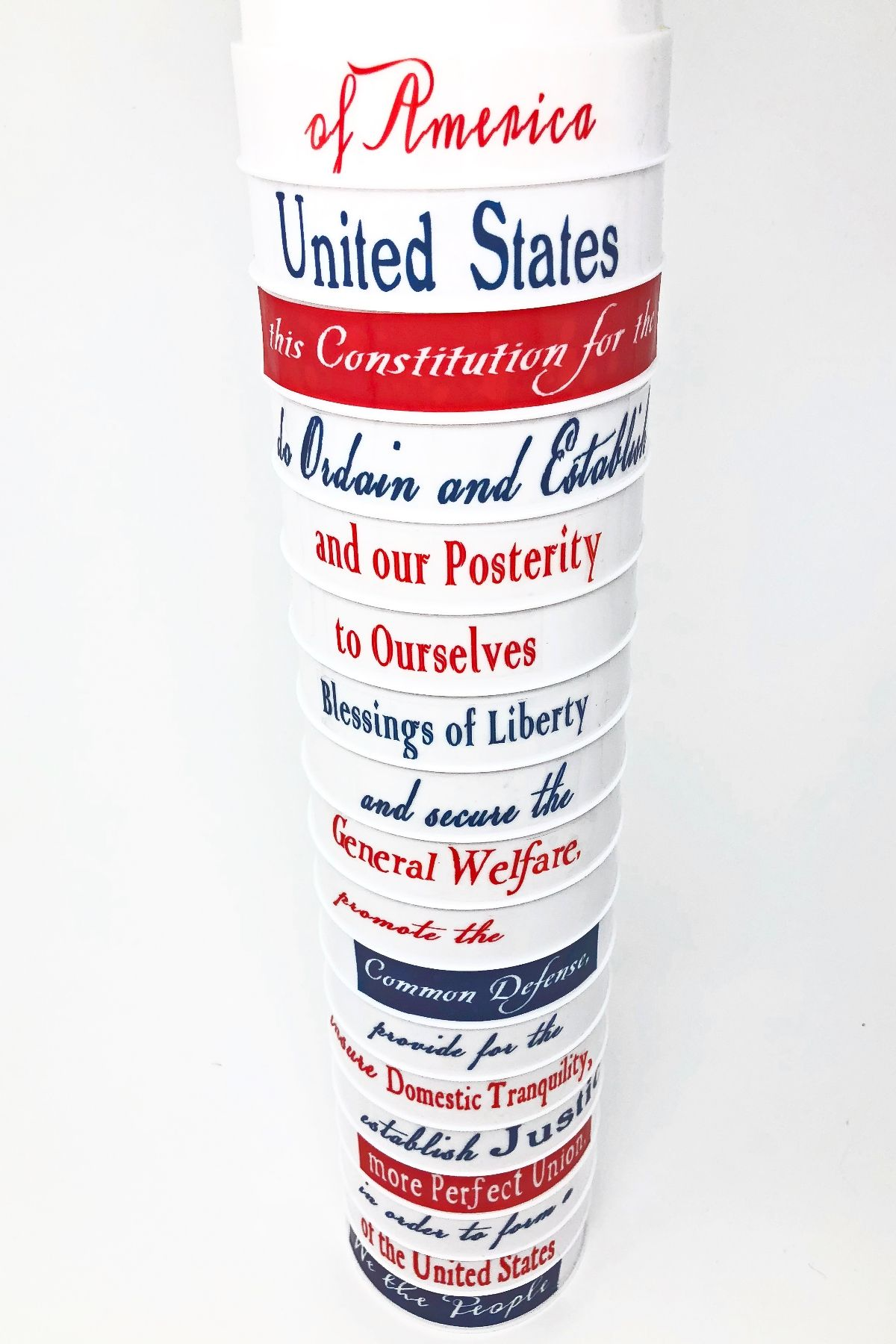 Constitution Day Preamble Stack Up
