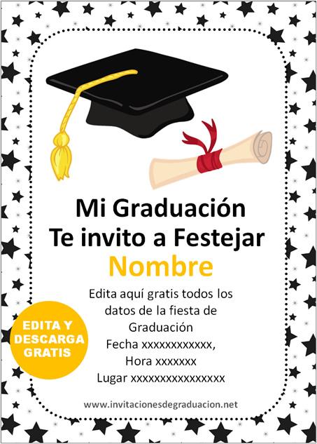 Las Mejores Invitaciones de Graduación Primaria para