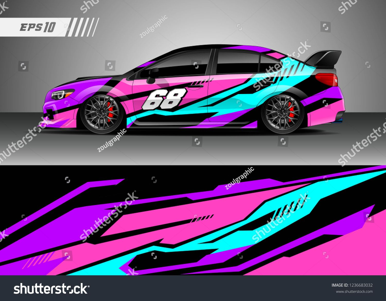 racing car decal design vector graphic abstract stripe racing rh pinterest com