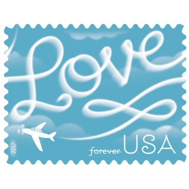 Love Skywriting The Postal Store Usps Com Wedding Postage Stamps Postage Stamp Design Wedding Postage
