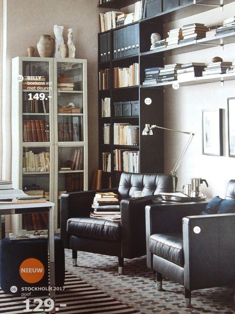 mooie boekenkast ikea ook te gebruiken als vitrinekast