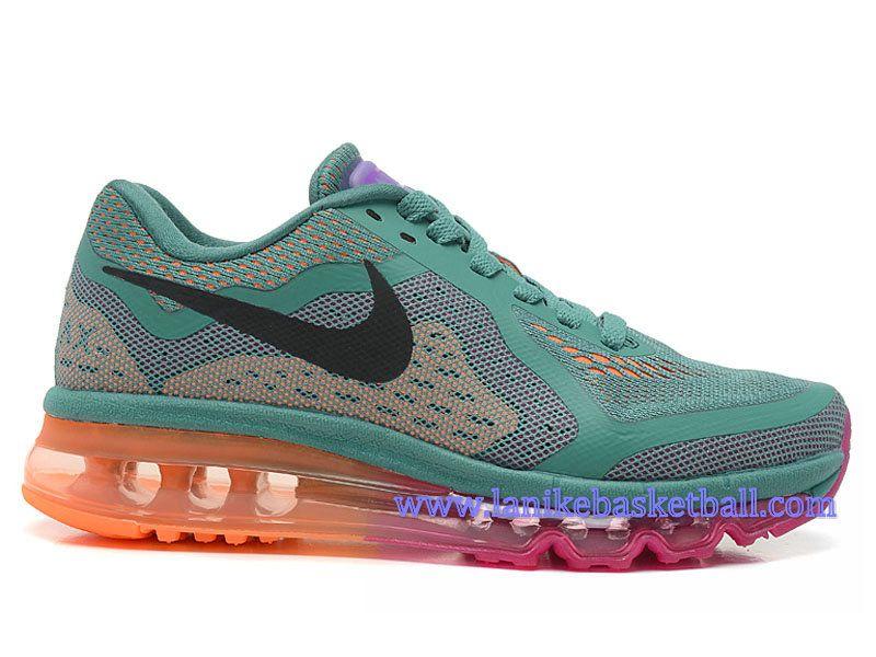 Nike Air Max 2014 GS Chaussures De Course Pour Femme/Fille Noir Olive  Orange 621078