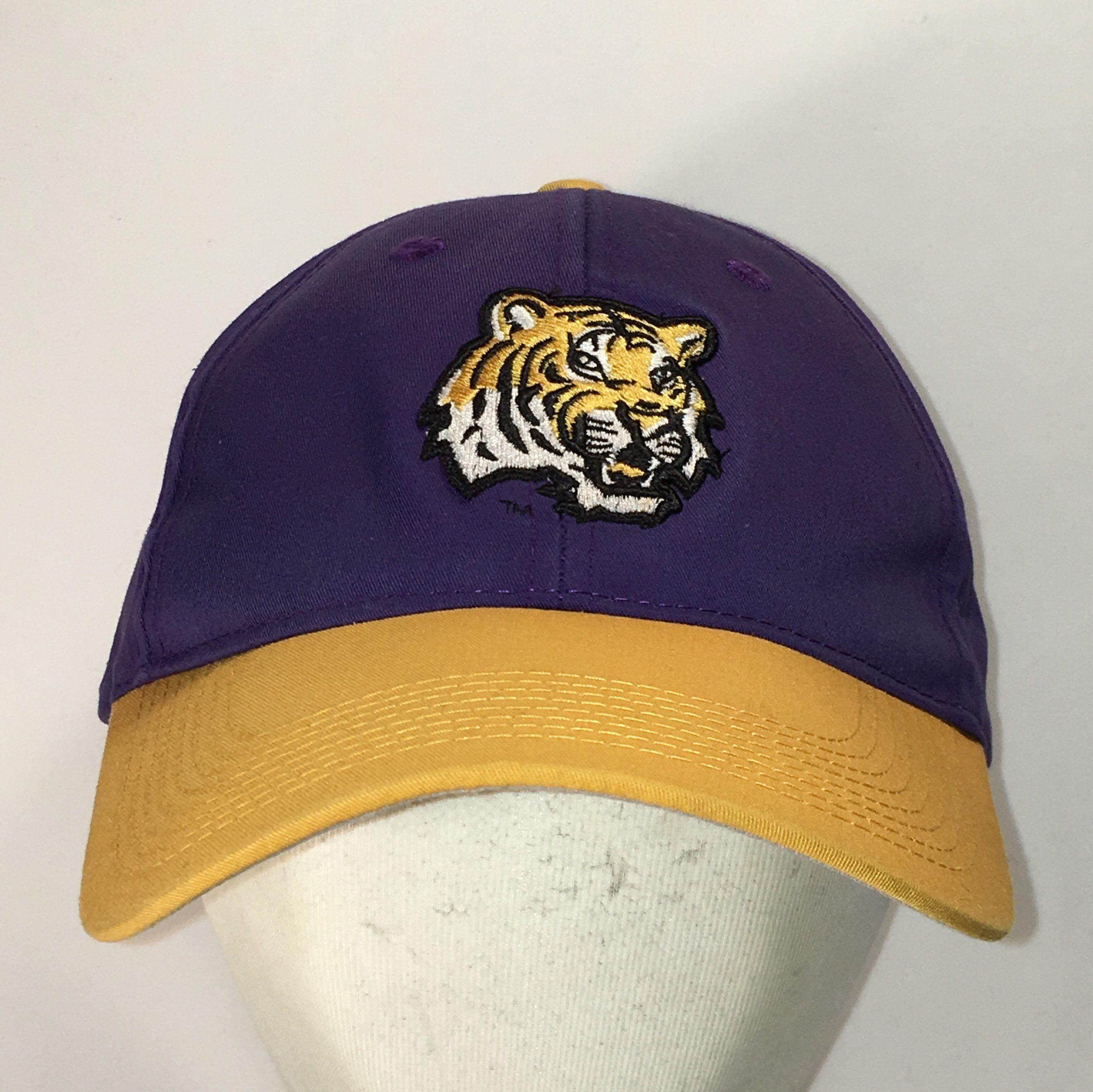 8abb8740b70 Vintage LSU Tigers Hat Purple Gold Baseball Cap Louisiana State University  NCAA College Basketball Dad Caps