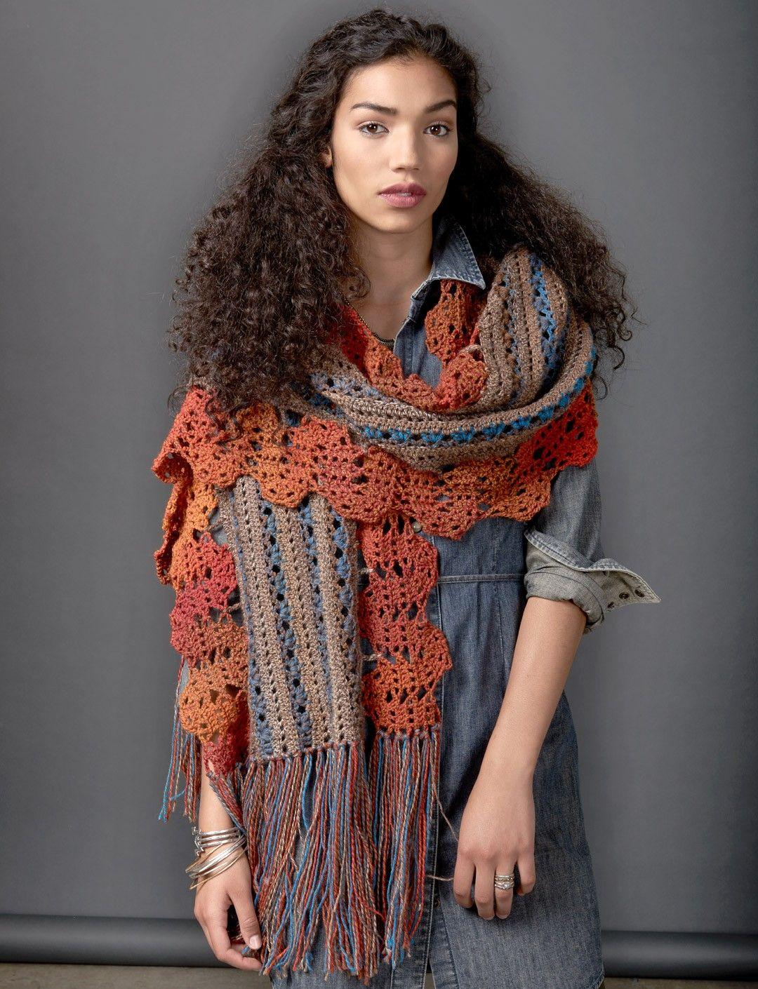 Globetrotter Shawl - Free Crochet Pattern - (yarnspirations ...