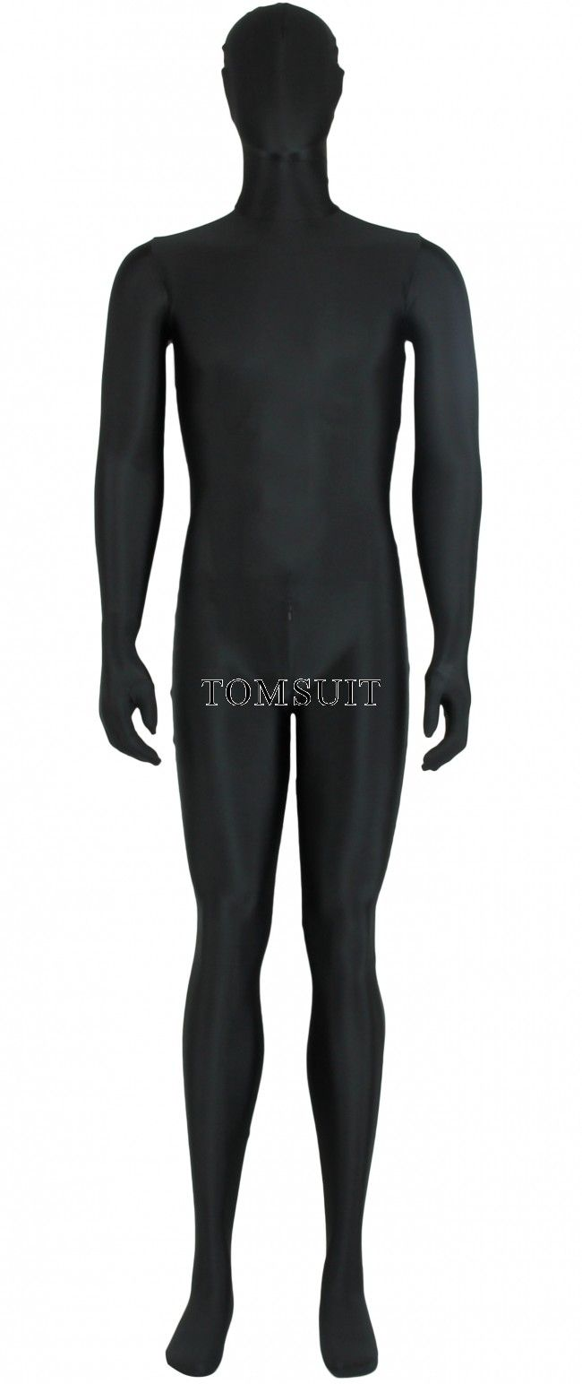 9a7c4a08a7ab09 TOMSUIT Lycra Full Bodysuit Zentai with Crotch Zipper for Male ...