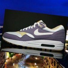 ZR026PA Damer Nike Air Max 1 Sko Lilla Hvid Beige Gomma nf9YO