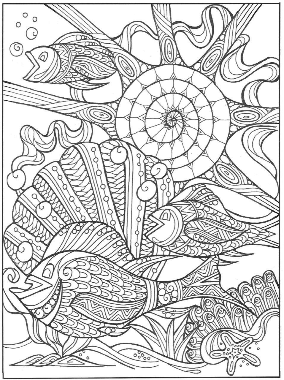 Under The Sea In Paradise Coloring Page Beach Coloring Pages Monster Coloring Pages Coloring Pages [ 1280 x 957 Pixel ]