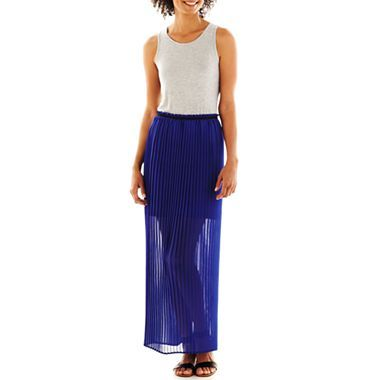 a.n.a® Pleated Maxi Dress   jcpenney $35