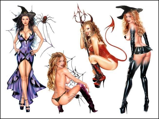 halloween fetish temporary tattoos - Fetish Halloween