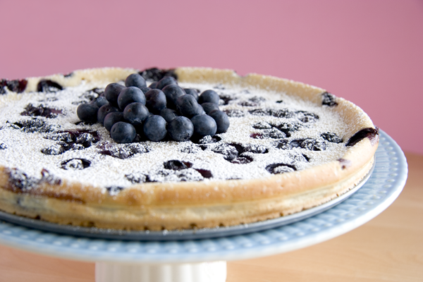 Vegan Blueberry Flaugnarde | The Misfit Baker.