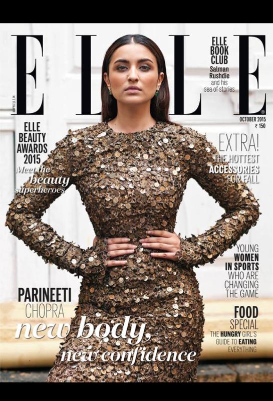 Parineeti Chopra: New Body New Confidence - ELLE - http://www.salisonline.in/Blog.aspx?BLOG_ID=518  #elle #magazine #cover #girl #parineeti #body #confidence #fashion