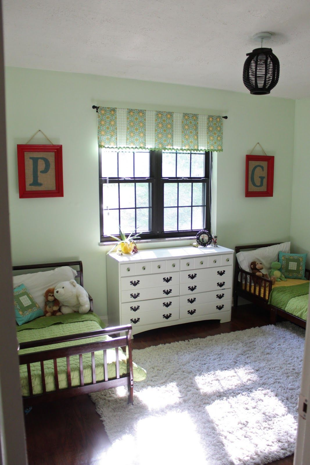 Vintage White Dresser Between Simple Twin Bed For Boys Inside Cozy Bedroom With Carpet Rug