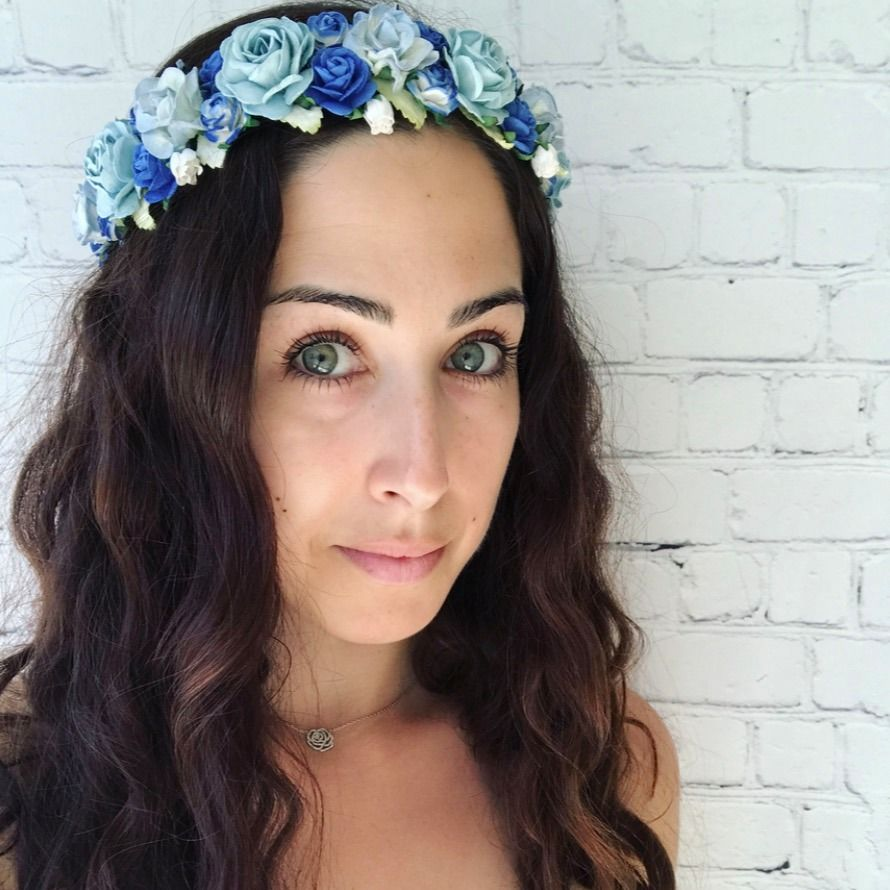 Rose Flower Halo Blue Flower Crowns Pinterest Resort Wear