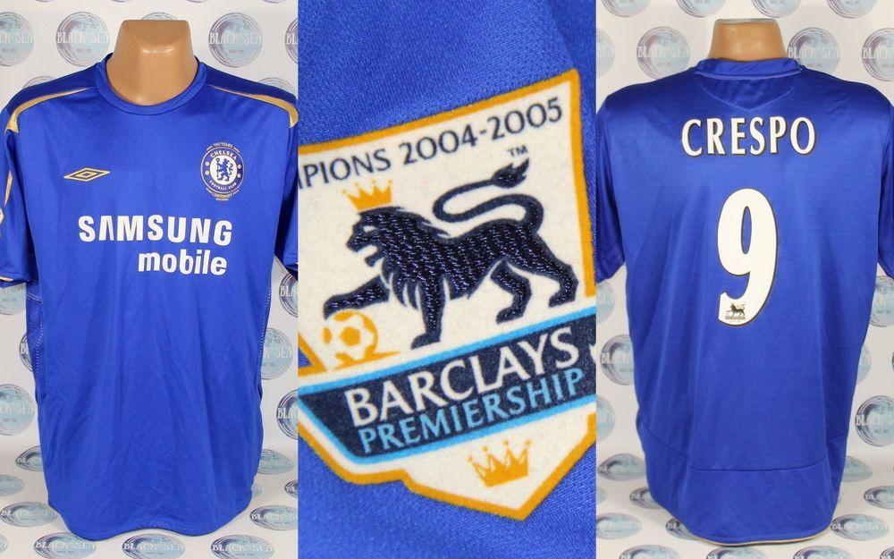 new style 06cbb bf8d3 CHELSEA 2005 2006 #9 CRESPO CENTENARY FOOTBALL SOCCER SHIRT ...