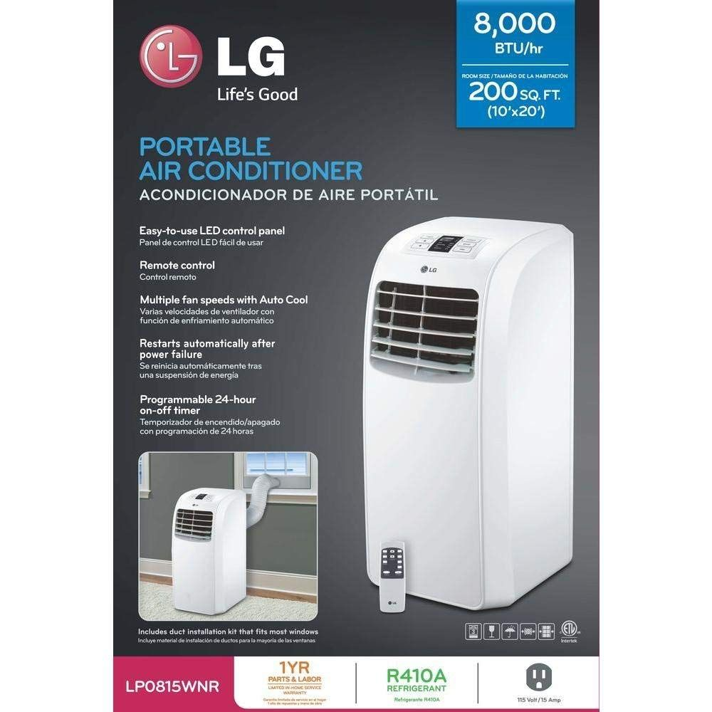 Lg 115v Cooling Only Portable Air Conditioner Lp0815wnr Portable Air Conditioner Air Conditioner Conditioner