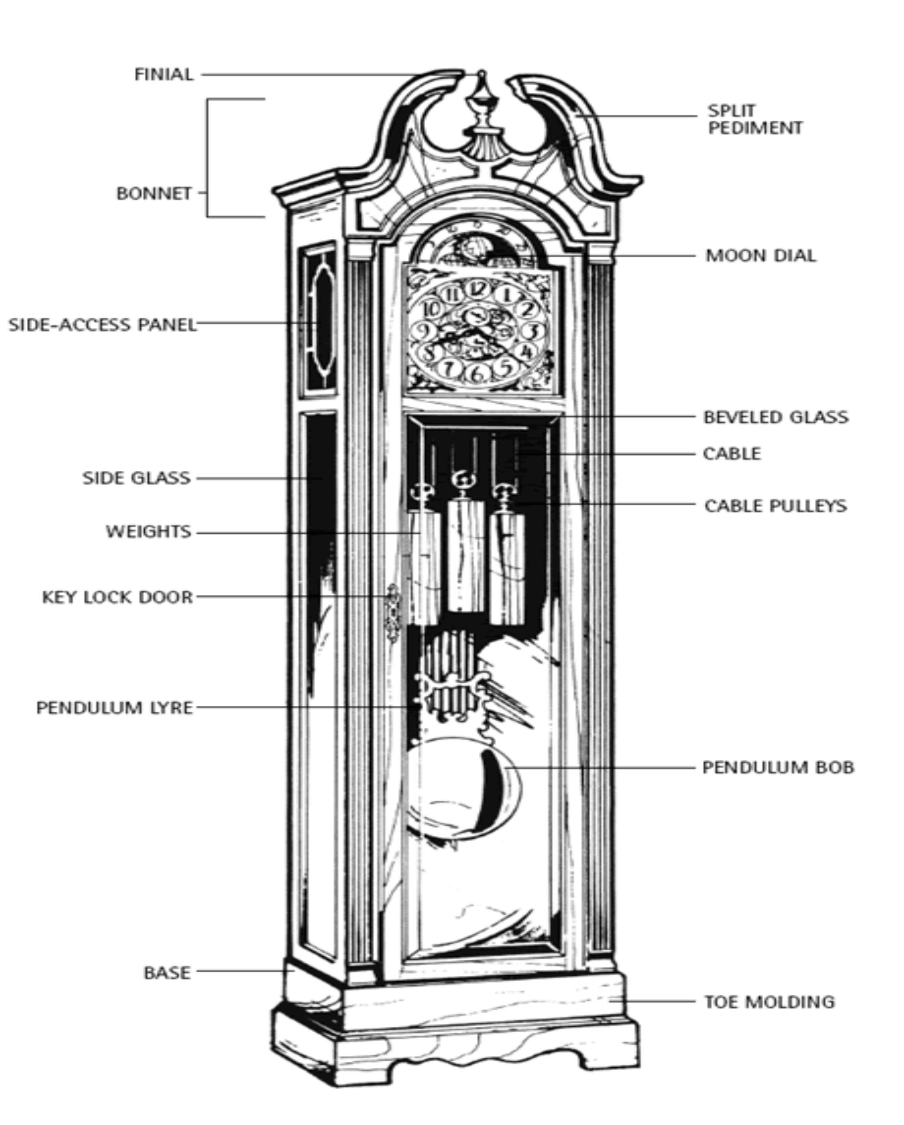 Grandfather Clock Diagram 1
