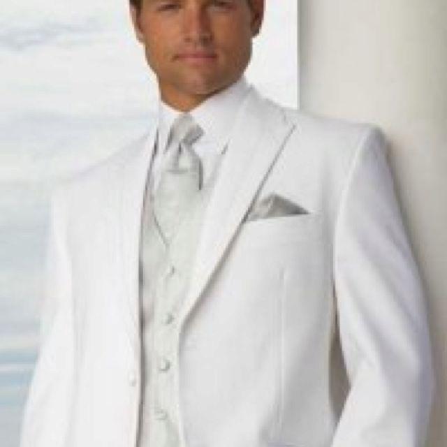 White groom's wear
