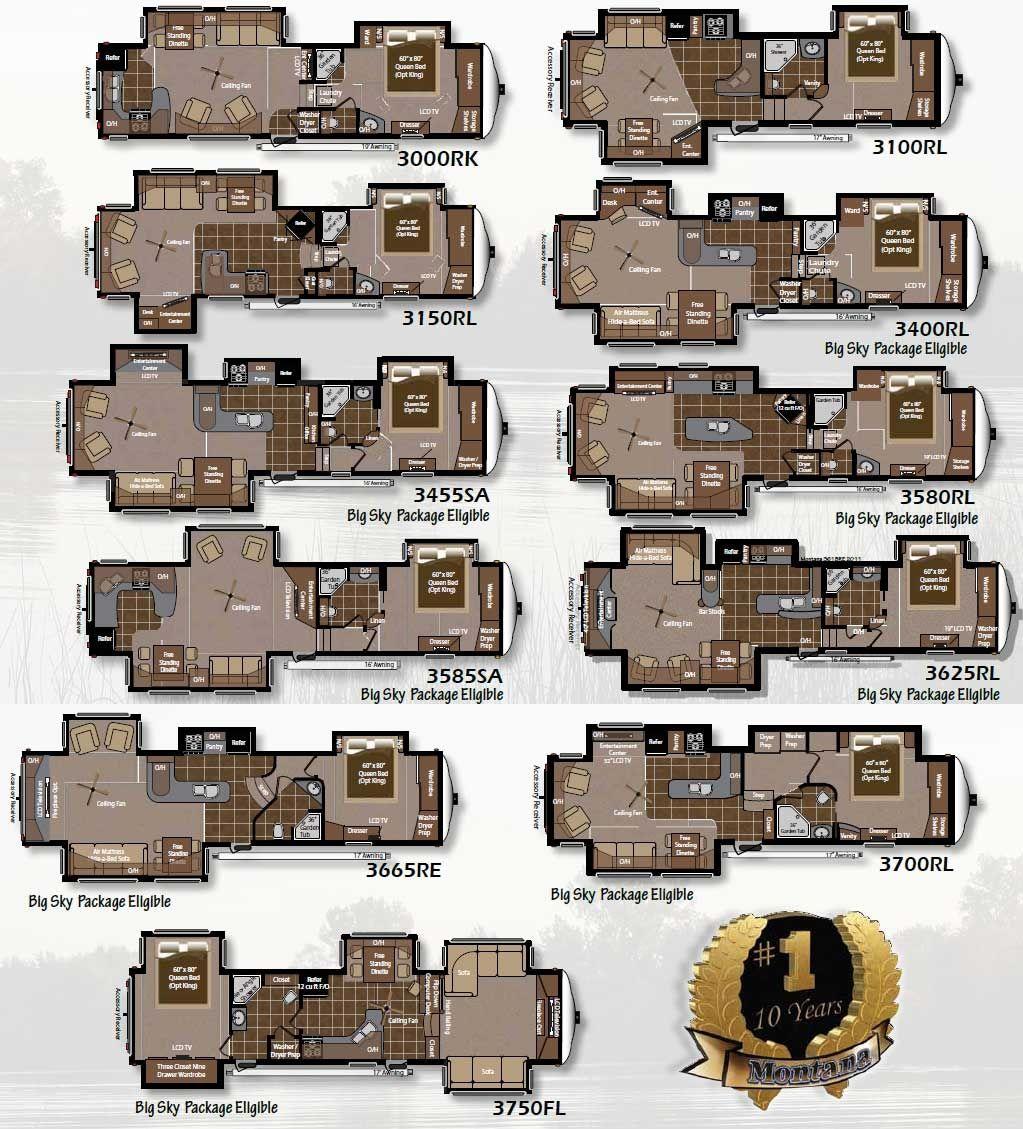Montana Fifth Wheel Rv Floor Plans