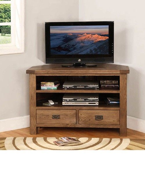 Reclaimed Wood Corner Tv Stand Entertainment Bar Corner Tv