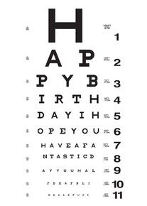 Eye Chart 00424r Happy Birthday Quotes For Him Birthday Quotes For Him Funny Birthday Cards
