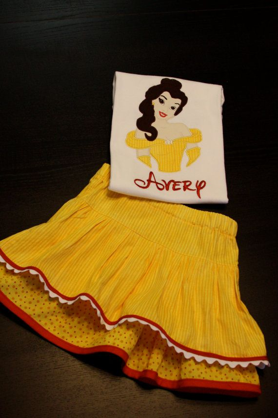 Custom Applique Shirt and Skirt Inspired by by myMarkCustomsShop, $50.00