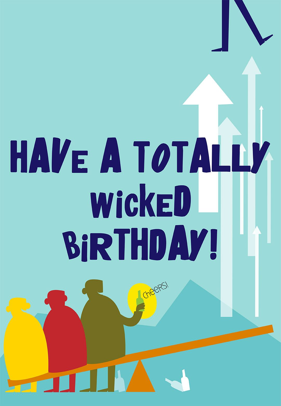Free Printable Totally Wicked Birthday Greeting Card Cards