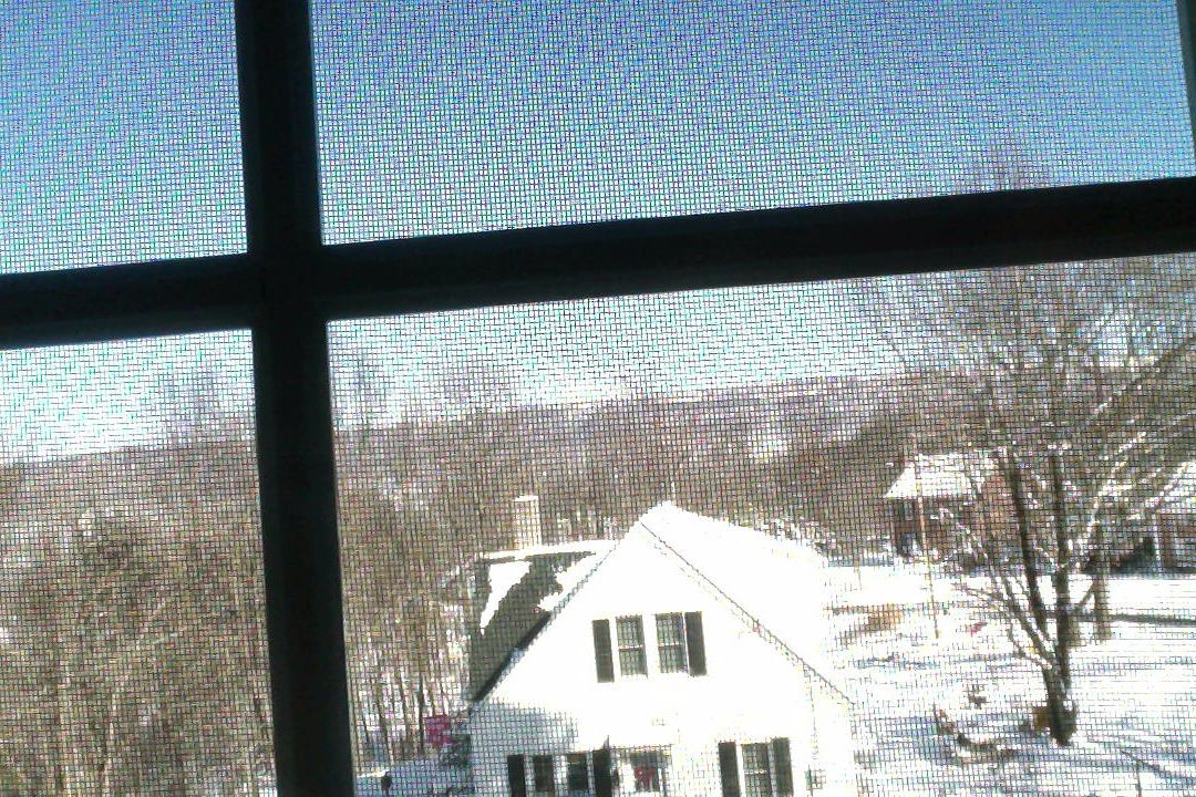 apeombymichaelobrien 1-22-14 11:41 a.m. (at my desk&window view of the mountain ridge line west of Romney) The Miracle Of  blue skies and white ground … silent here & there/ found a memory of walking with my old dog in the woods/ now she's gone … the deer paths remain/ & the quiet somewhere beneath a tree snow dust/ her nose turns up and my boot left steps/and there we find it before our eyes