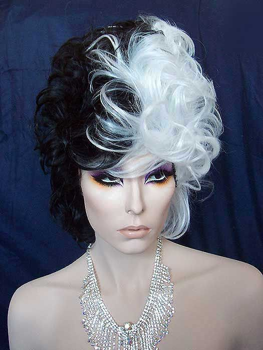 Cruella Bee Hive Wig Black And White 11 Quot High So Much