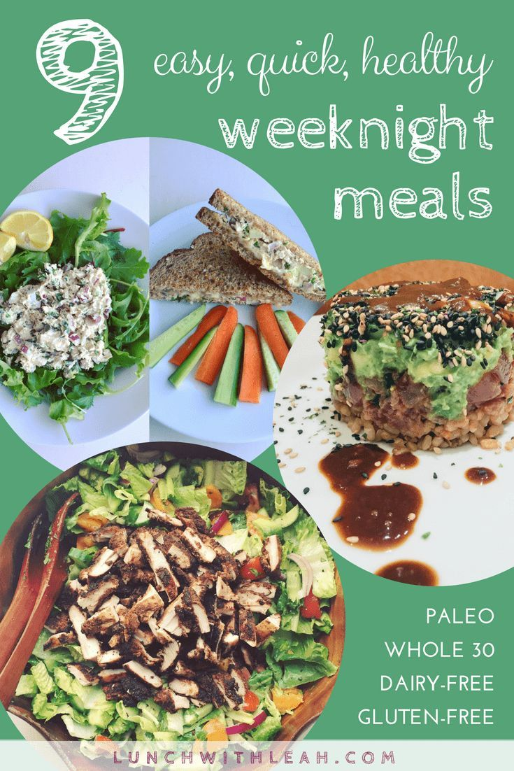 No Time? 9 easy, quick, healthy weeknight meals images