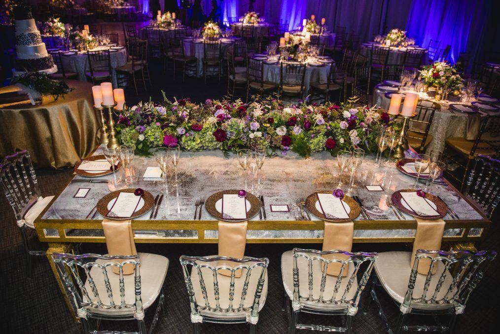 Newseum Wedding Wedding Reception Head Table Reception Head Table Wedding Reception