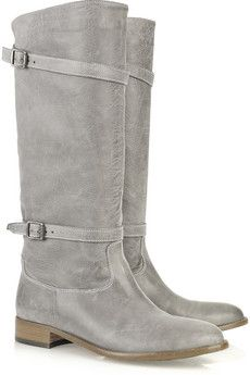 Belstaff leather boots. This is such a good color.