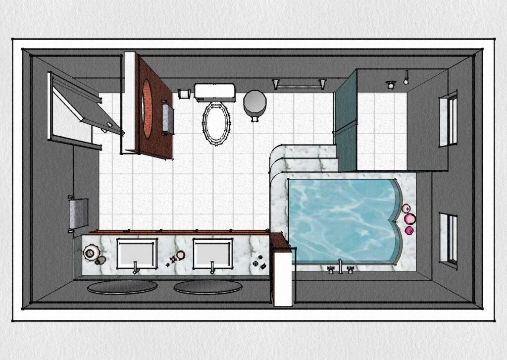 Medidas Banheiro Planta Baixa : Planta de banheiro com banheira pesquisa google