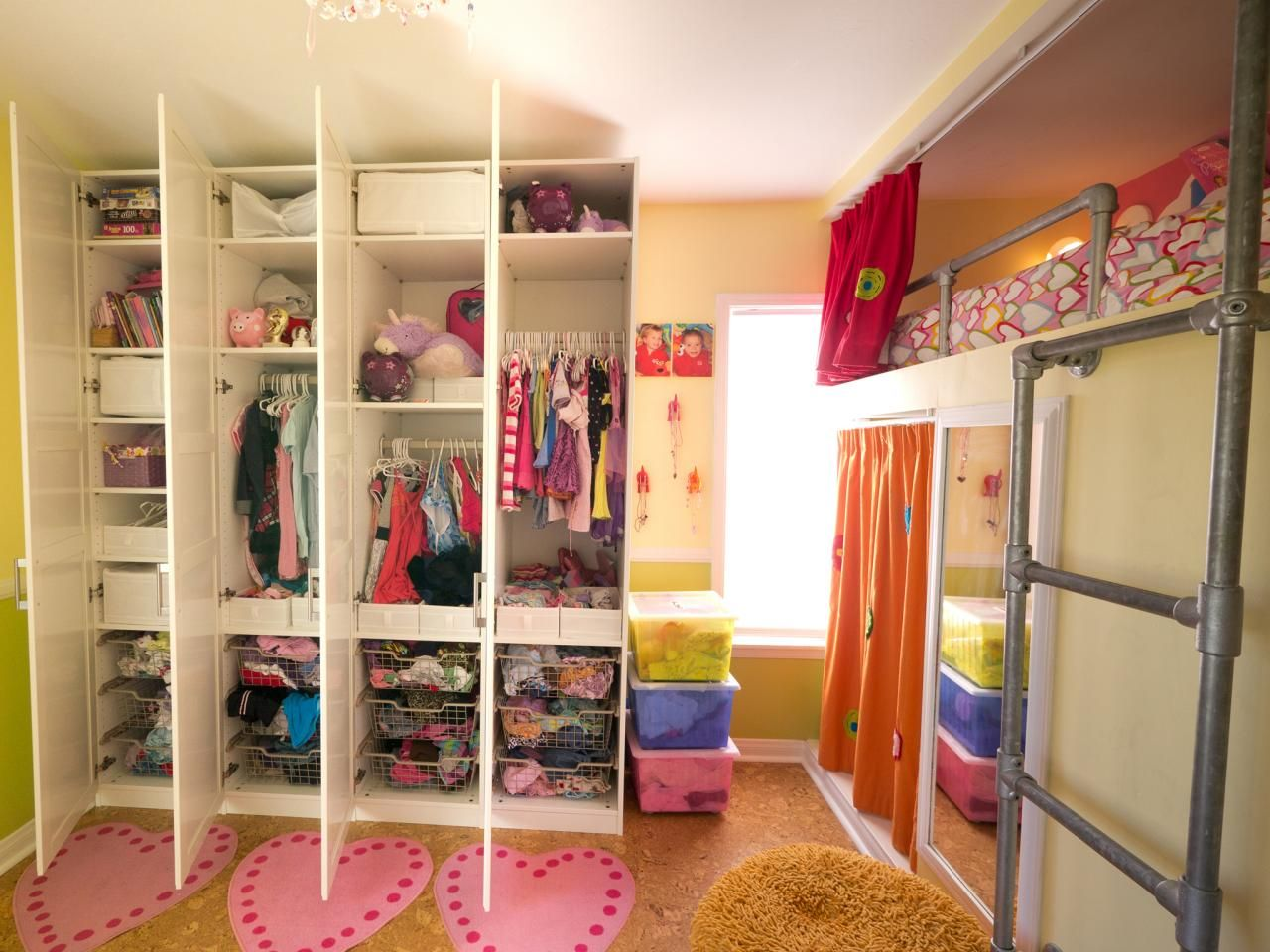 Cabinet Design For Clothes For Kids This Shared Bedroom Makes The Most Of The Space With Industrial