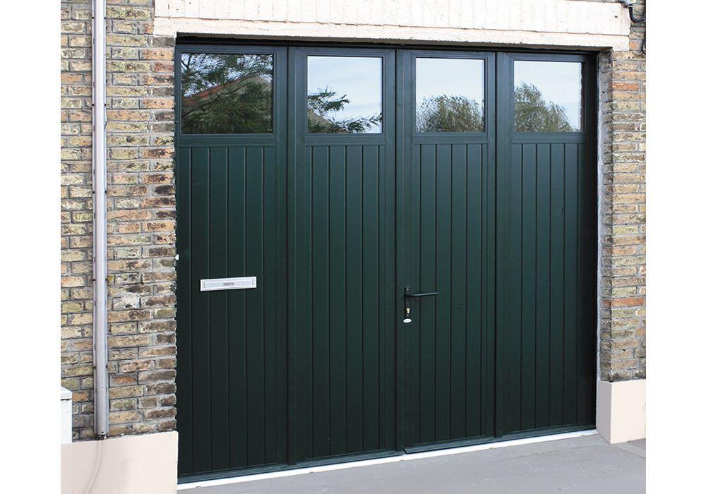 11 Portes De Garage Battantes Luxembourg Option Decoupe Boite Aux Lettres Garage Doors Side Hinged Garage Doors Garage To Living Space