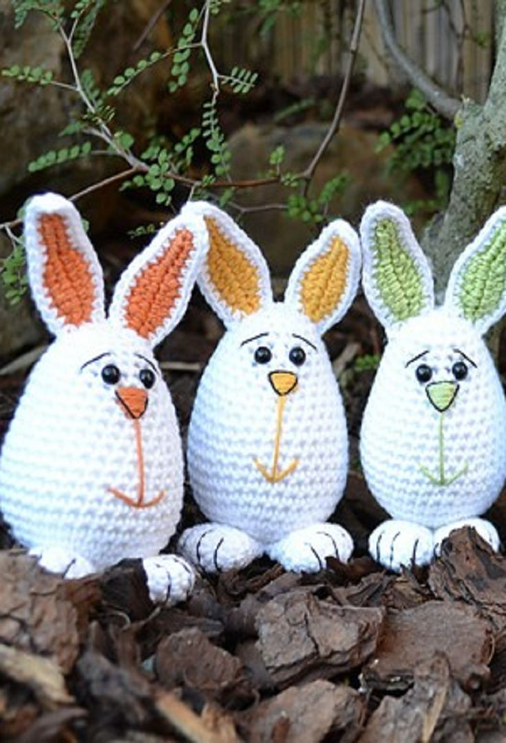 Free Pattern] These Little Easter Bunnies Are So Cute, It Is ...