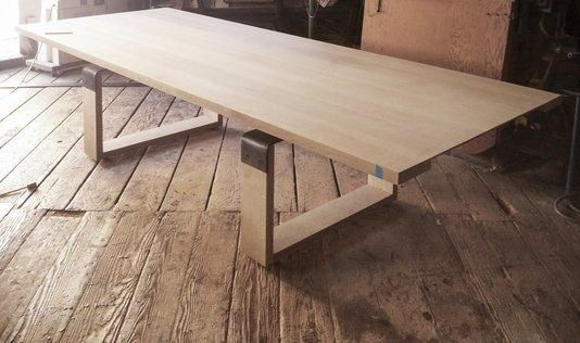 How Beautiful Is This Custom Rift Table Made From Sawn White Oak