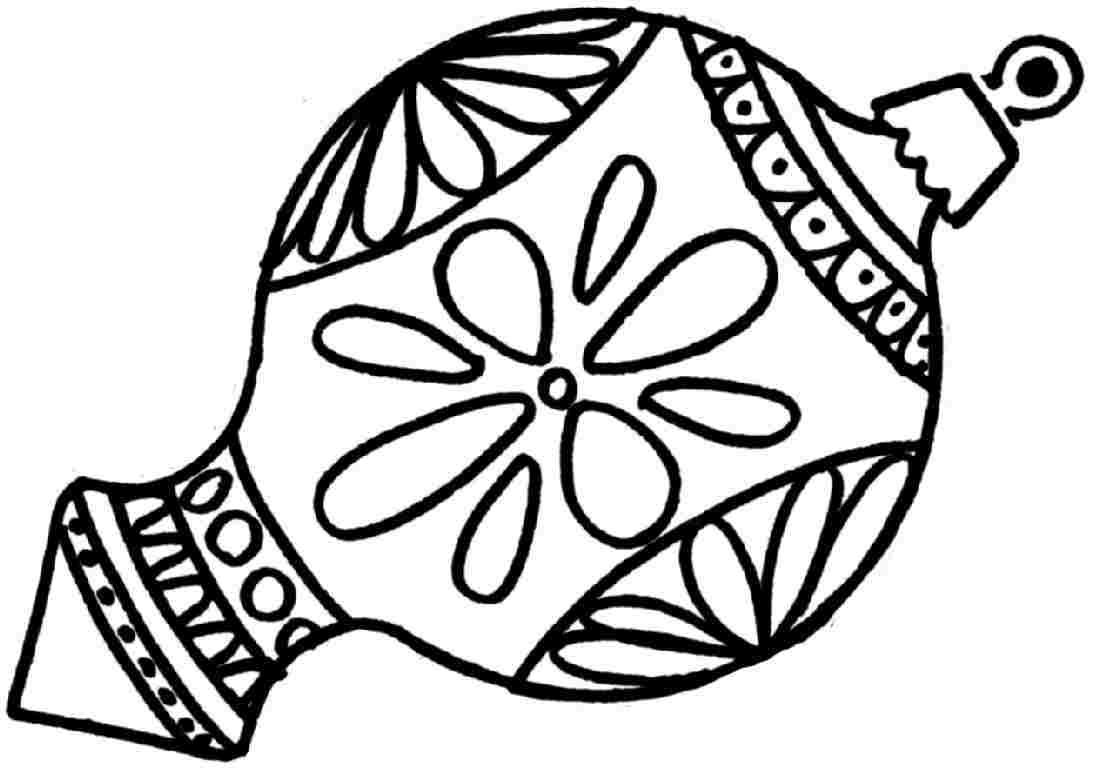 Round Ornament Coloring Page, Pin Ornaments Coloring Pages ...